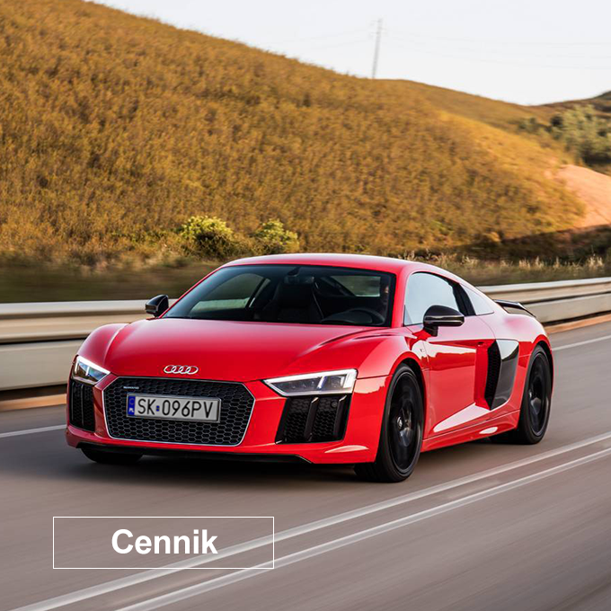 Cennik Audi R8 V10 Plus - Escort Cars - Wypożyczalnia samochodów luksusowych